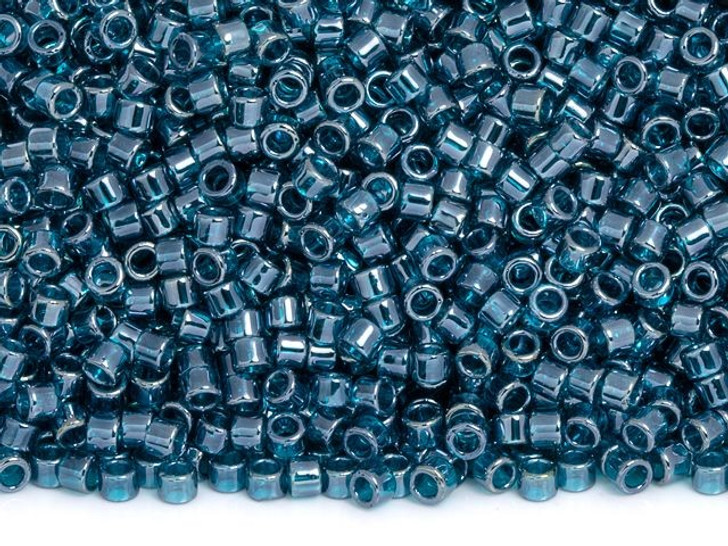 TOHO Aiko 11/0 Transparent Teal Luster Precision Cylinder Seed Beads, 4g Pack