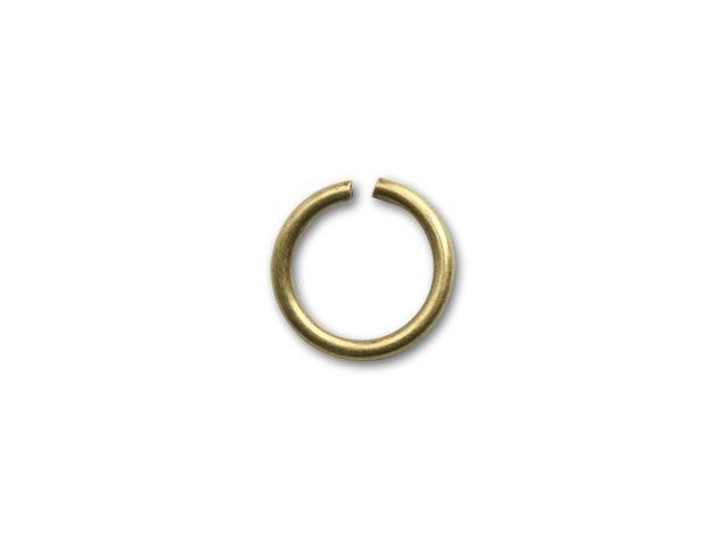 8mm Antique Brass-Plated Open Jump Ring