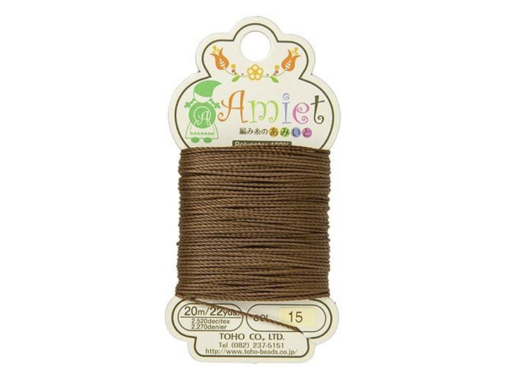 TOHO Amiet Beading Thread, Auburn (20 Meters/22 Yards)
