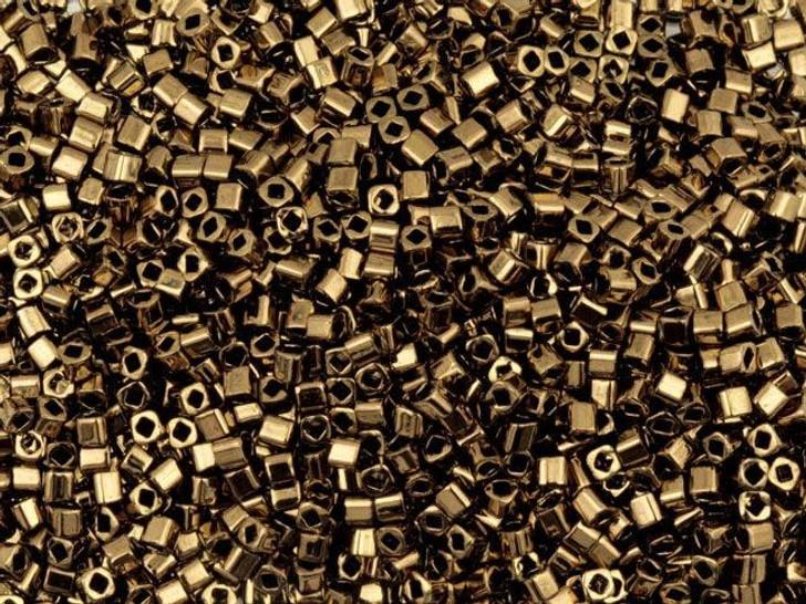 TOHO Bead Cube 1.5mm Bronze, 2.5-Inch Tube
