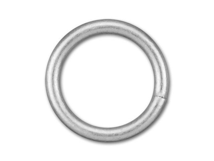 8mm Antique Silver-Plated Closed Jump Ring - 18 Gauge