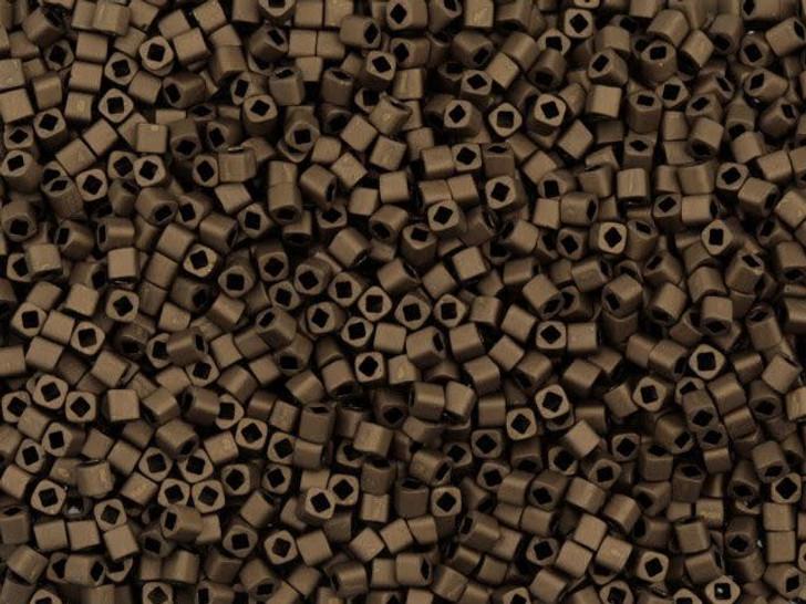 TOHO Bead Cube 1.5mm Matte Dark Copper, 2.5-Inch Tube
