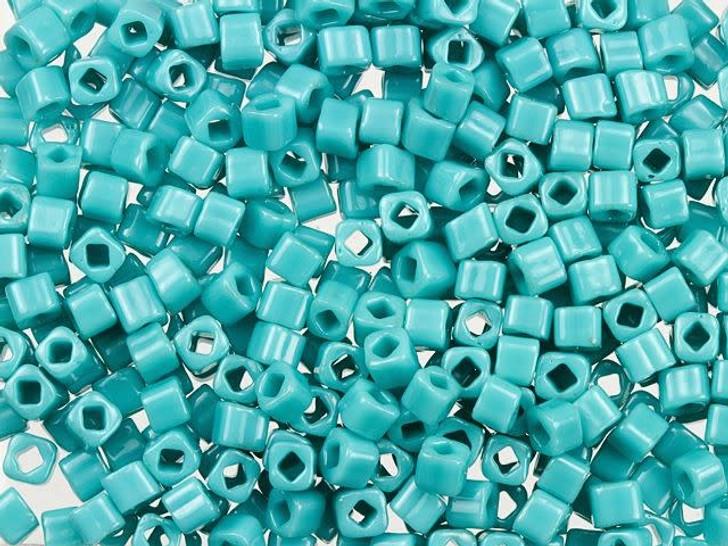TOHO Bead Cube 3mm Opaque Turquoise 2.5-Inch Tube