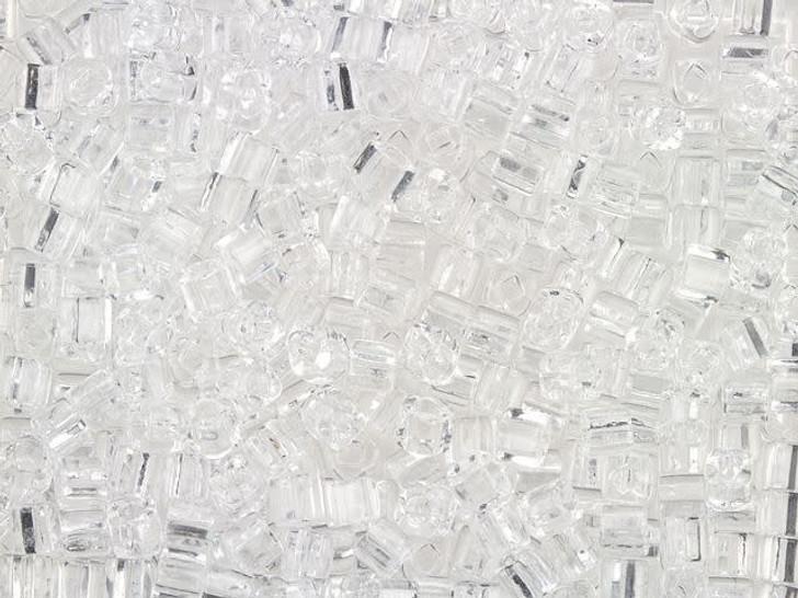 TOHO Bead Cube 3mm Transparent Crystal 8g Bag