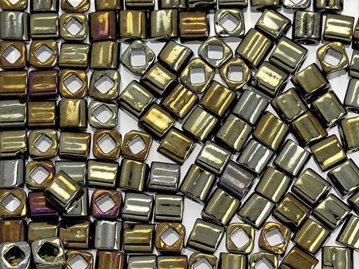 TOHO Bead Cube 4mm Metallic Iris-Brown 2.5-Inch Tube