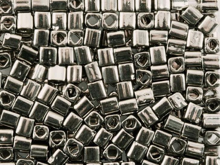 TOHO Bead Cube 4mm Nickel-Plated Silver 8g Bag
