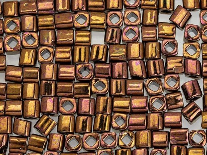TOHO Bead Cube 4mm Olympic Bronze 2.5-Inch Tube