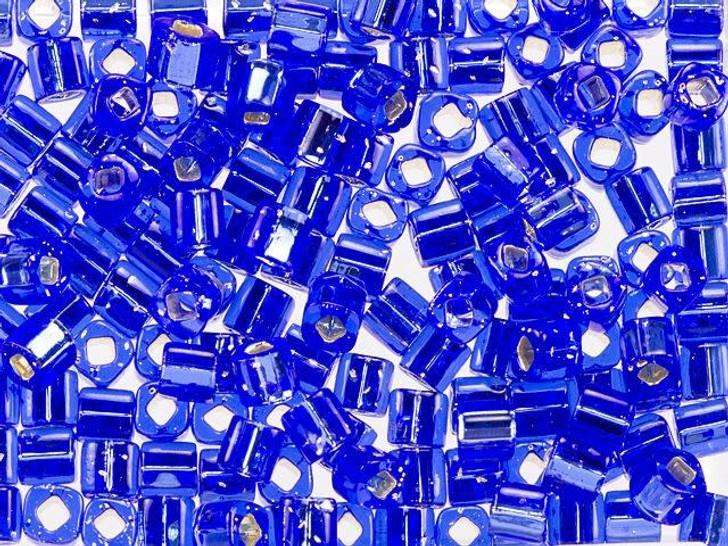 TOHO Bead Cube 4mm Silver-Lined Sapphire 8g Bag