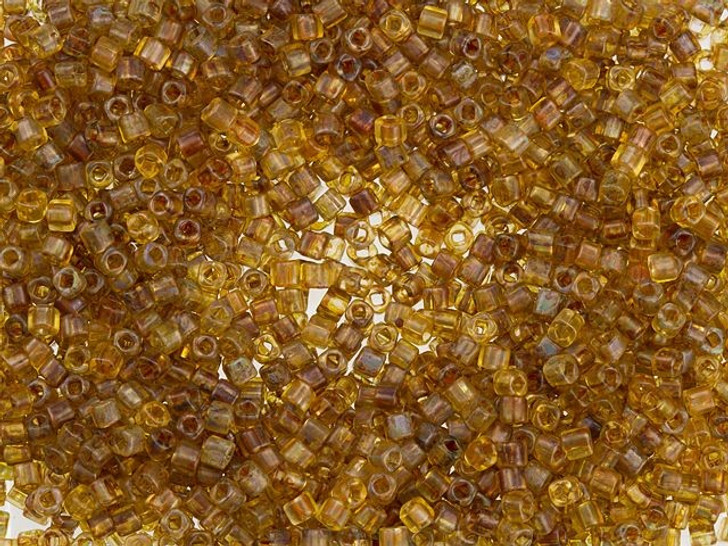 TOHO Bead Cube Hybrid 1.5mm Frosted Natural Picasso 2.5-Inch Tube