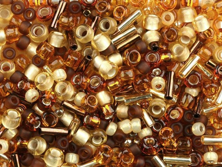 TOHO Bead Mix Ambers 8g Bag