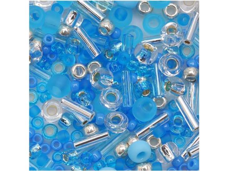 TOHO Bead Mix Blue Frost 2.5-Inch Tube