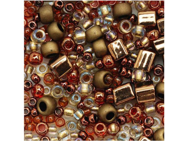 TOHO Bead Mix Bronzes 2.5-Inch Tube