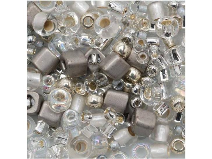 TOHO Bead Mix Crystals/Silvers 2.5-Inch Tube