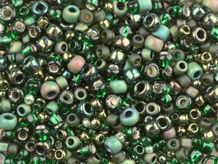 TOHO Bead Mix Forest Green 2.5-Inch Tube