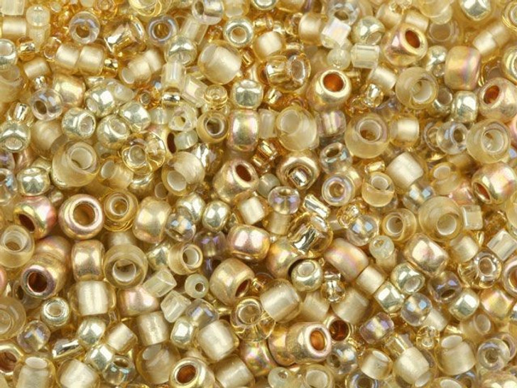 TOHO Bead Mix Golds 2.5-Inch Tube