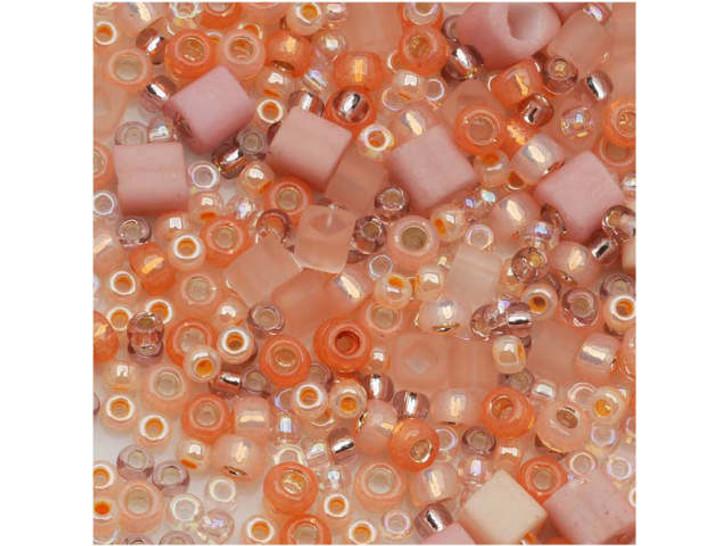 TOHO Bead Mix Peach 2.5-Inch Tube