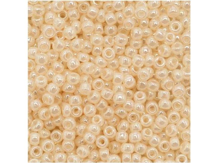 TOHO Bead Round 11/0 Ceylon Opalescent Cream, 2.5-Inch Tube