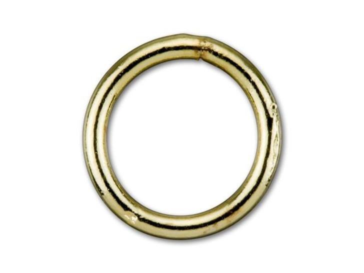 8mm Gold-Plated Closed Jump Ring - 18 Gauge