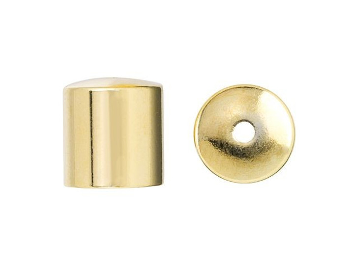 8mm Gold-Plated Cord End Cap