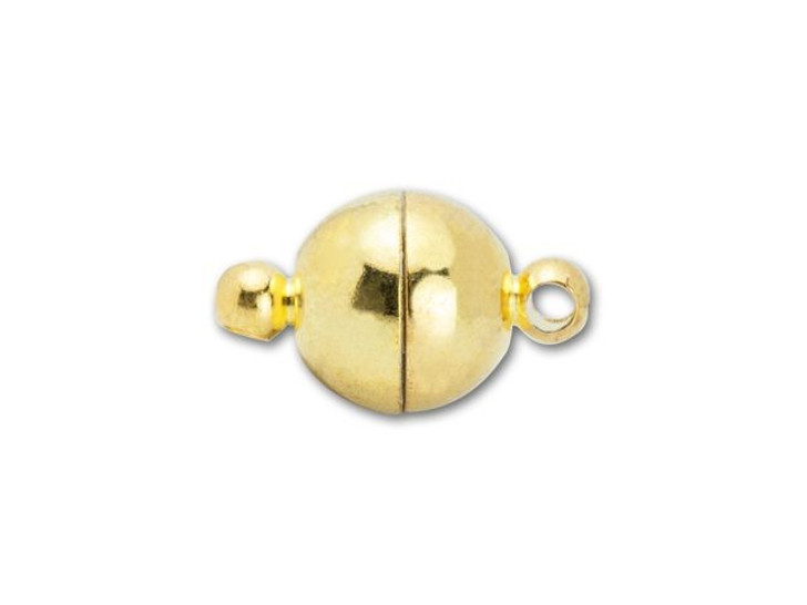 8mm Gold-Plated Round Magnetic Clasp