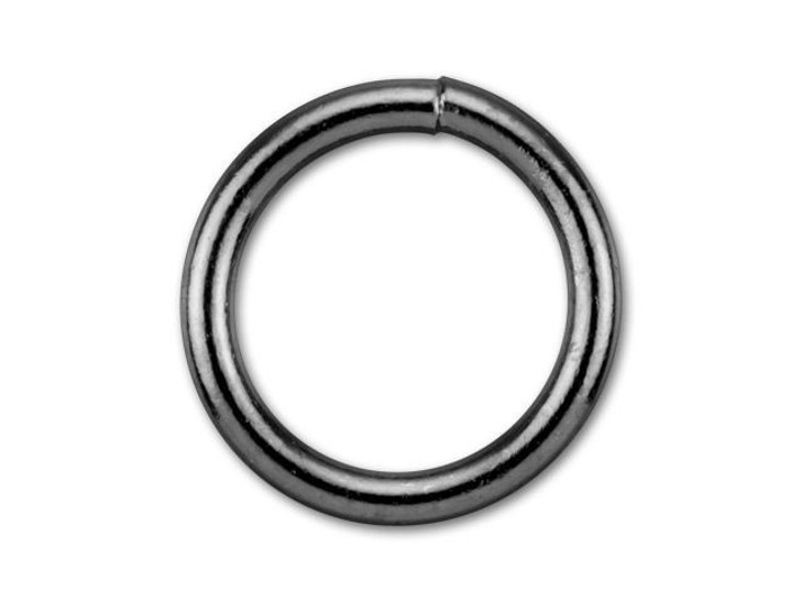 8mm Gunmetal-Plated Closed Jump Ring - 18 Gauge