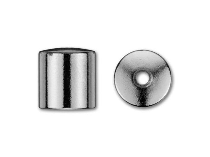 8mm Gunmetal-Plated Cord End Cap