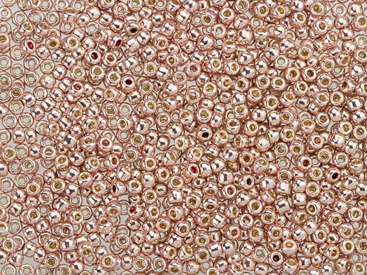 TOHO Bead Round 11/0 Galvanized Sweet Blush PermaFinish 2.5-Inch Tube