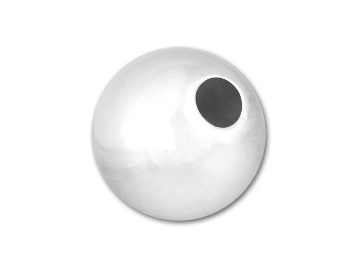 8mm Light Weight Seamless Round Small Hole Bead (Sterling Silver)