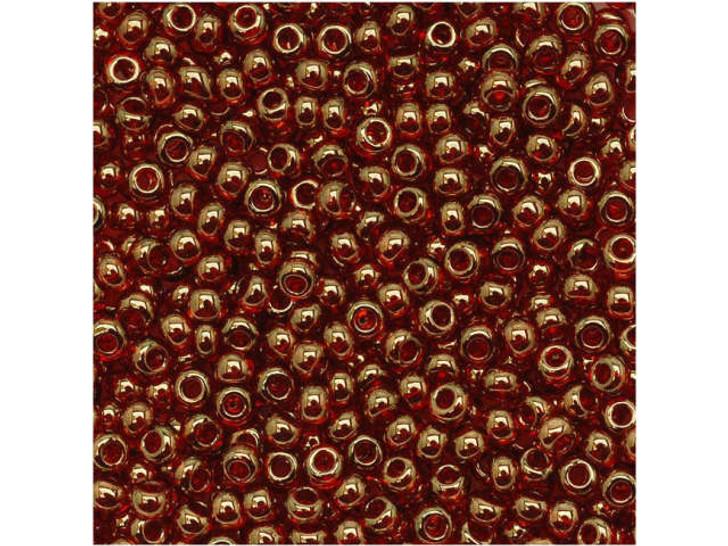 TOHO Bead Round 11/0 Gold-Lustered Rusty Orange, 2.5-Inch Tube