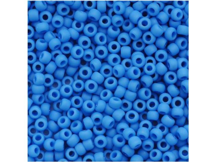 TOHO Bead Round 11/0 Matte Opaque Dark Sky Blue, 2.5-Inch Tube