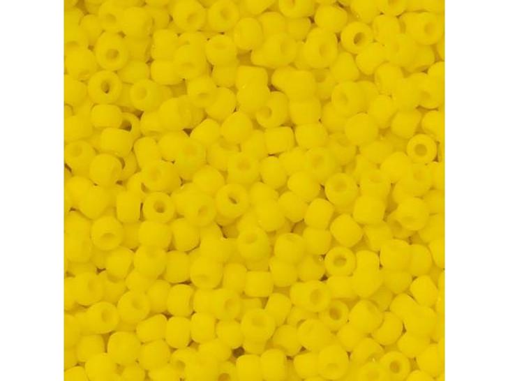 TOHO Bead Round 11/0 Matte Opaque Dark Yellow, 2.5-Inch Tube