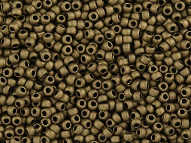 TOHO Bead Round 11/0 Matte Opaque Soft Brown, 2.5-Inch Tube