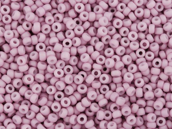 TOHO Bead Round 11/0 Matte Opaque Soft Lilac, 2.5-Inch Tube