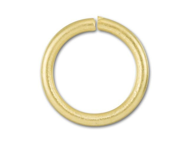 8mm Satin Hamilton Gold-Plated 18 Gauge Open Jump Ring