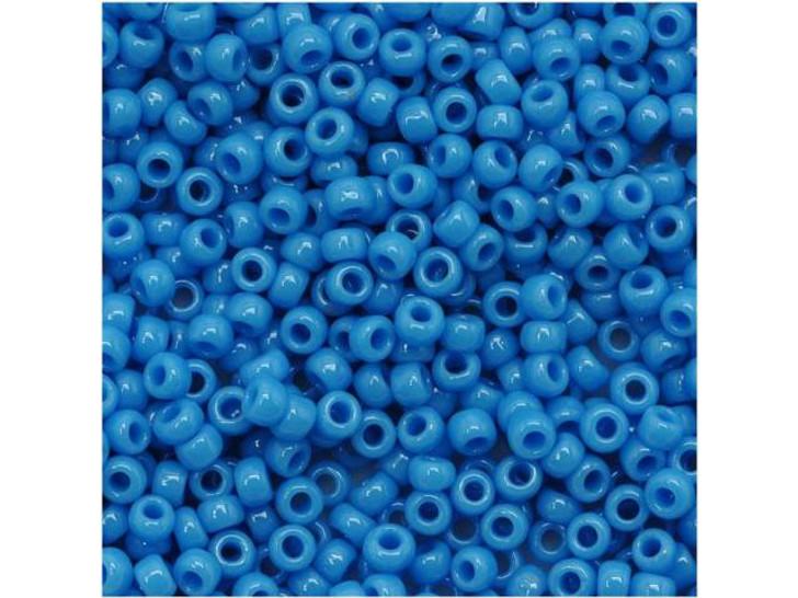 TOHO Bead Round 11/0 Opaque Dark Sky Blue, 2.5-Inch Tube