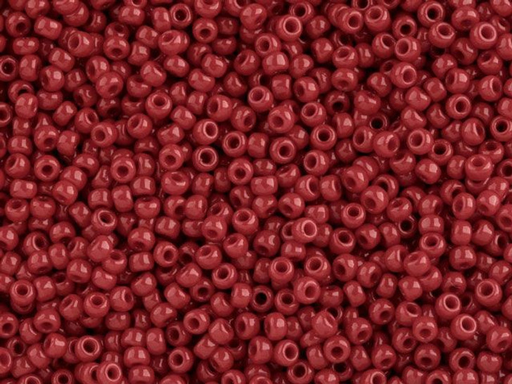 TOHO Bead Round 11/0 Opaque Pepper Red, 2.5-Inch Tube