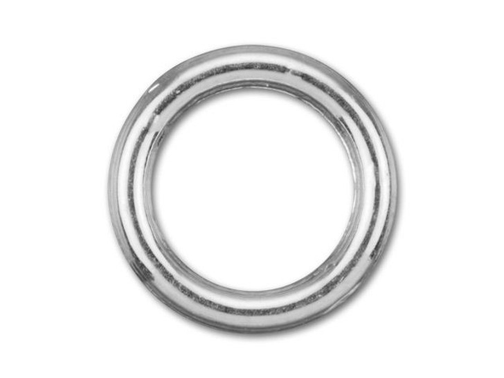 8mm Silver-Plated Closed Jump Ring - 18 Gauge