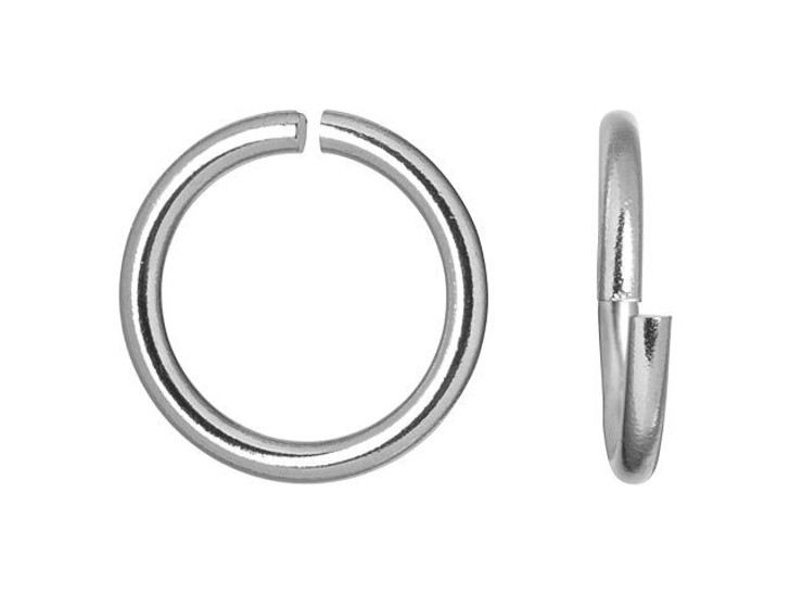 8mm Stainless Steel 18 gauge Open Jump Ring (Min Qty 10)