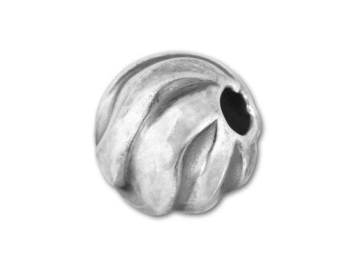 8mm Sterling Oxidized Twist Bead