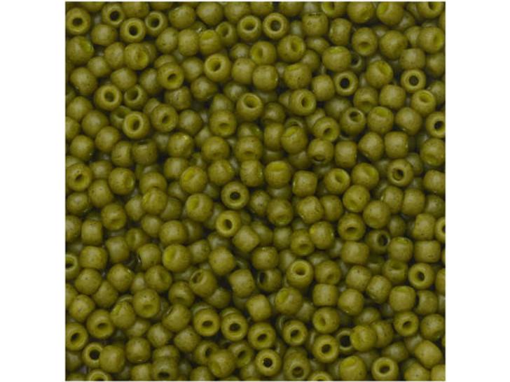 TOHO Bead Round 11/0 Semi-Glazed Olive 2.5-Inch Tube