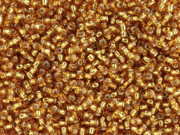 TOHO Bead Round 11/0 Silver-Lined Dark Gold, 2.5-Inch Tube