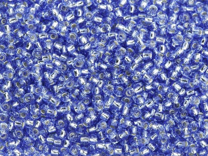 TOHO Bead Round 11/0 Silver-Lined Light Sapphire, 2.5-Inch Tube