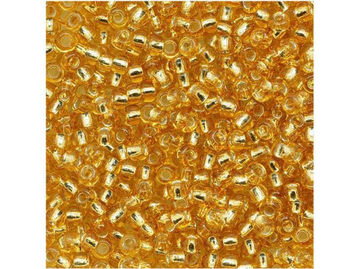 TOHO Bead Round 11/0 Silver-Lined Medium Gold, 2.5-Inch Tube