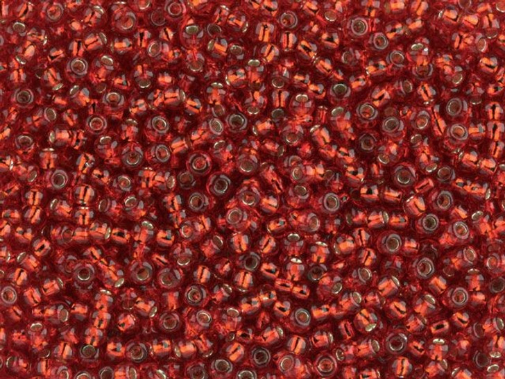 TOHO Bead Round 11/0 Silver-Lined Ruby, 2.5-Inch Tube