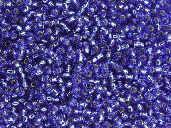 TOHO Bead Round 11/0 Silver-Lined Sapphire, 2.5-Inch Tube