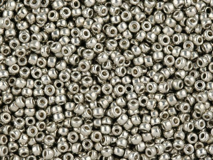 TOHO Bead Round 11/0 Silver-Plated, 2.5-Inch Tube