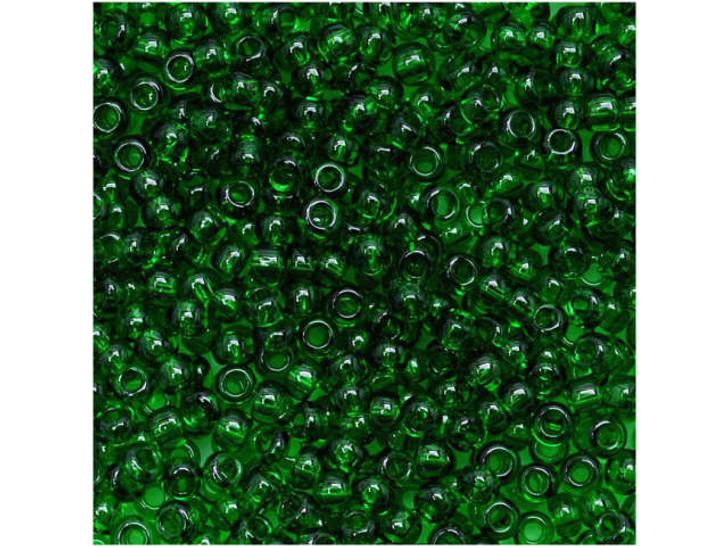 TOHO Bead Round 11/0 Transparent Emerald, 2.5-Inch Tube