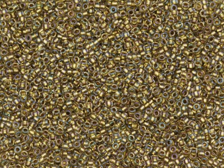 TOHO Bead Round 15/0 Antique Gold Lined Crystal 2.5-Inch Tube