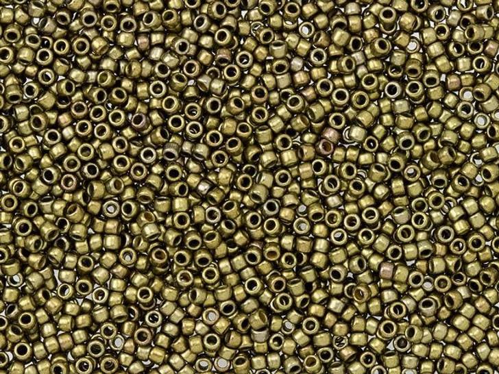 TOHO Bead Round 15/0 Bronze Antique Gold 2.5-Inch Tube