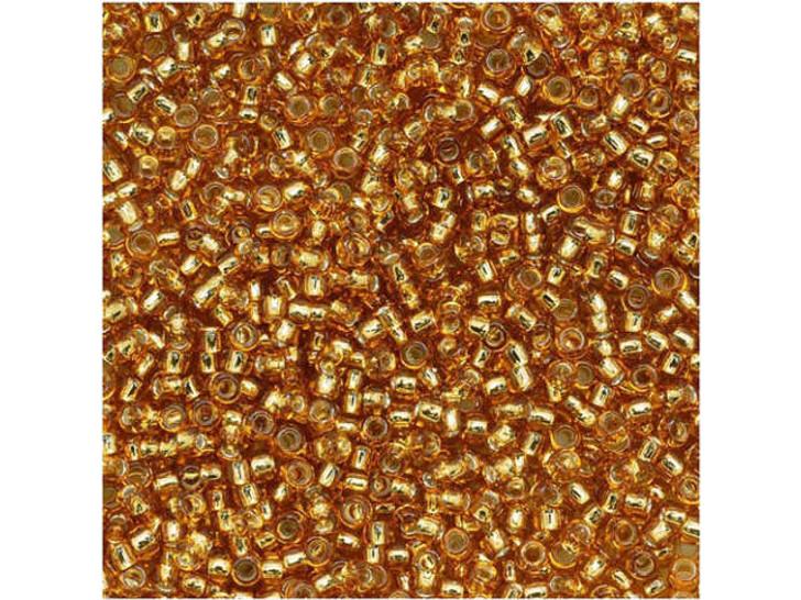 TOHO Bead Round 15/0 Silver-Lined Dark Gold 2.5-Inch Tube